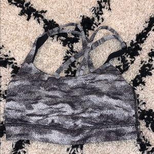 lululemon black and white camo sports bra